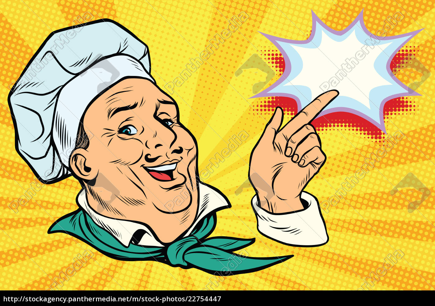 chef, points, his, finger, gesture - 22754447