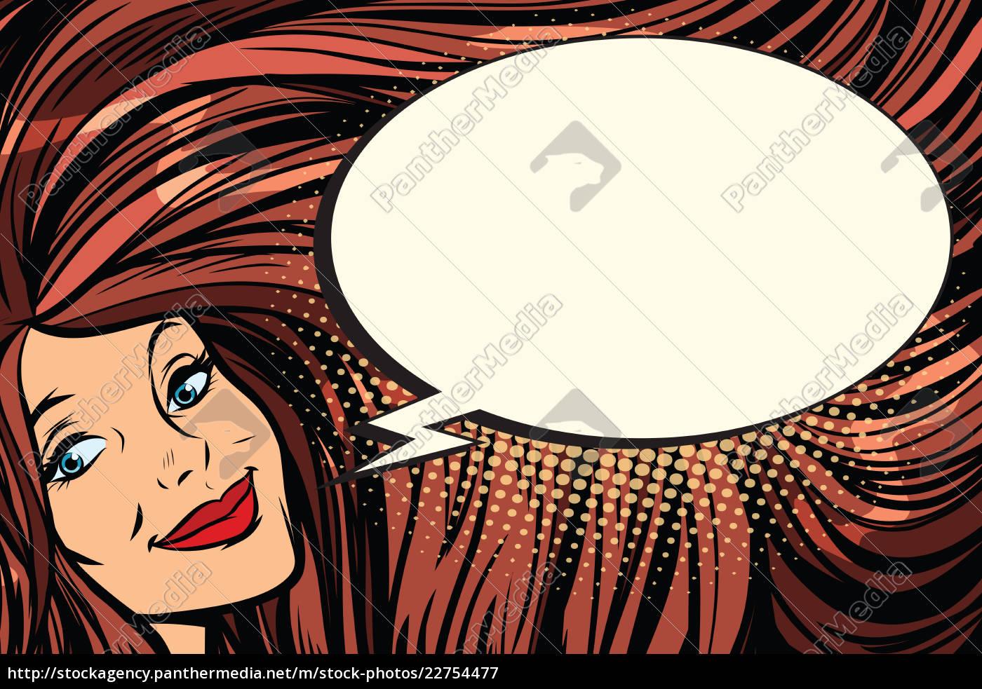 joyful, woman, with, long, hair, and - 22754477