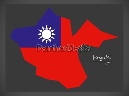 jilong shi taiwan map with taiwanese