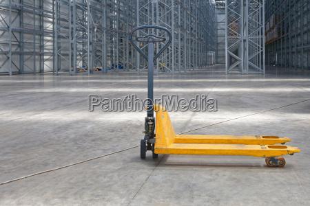 pallet jack warehouse