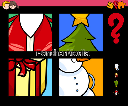 guess xmas items cartoon game for