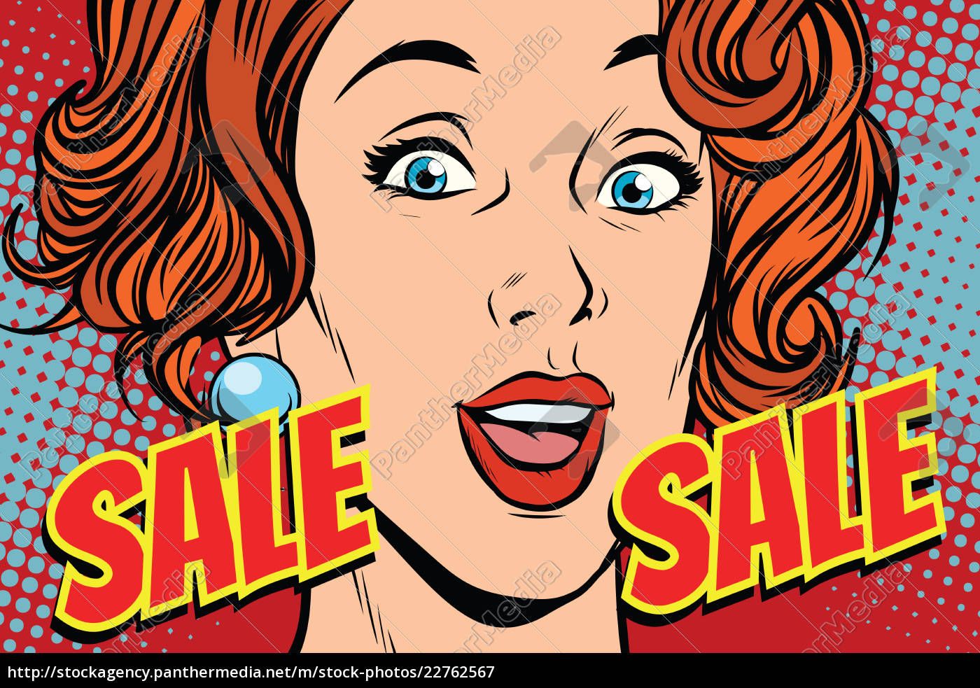 sale, comic, text, pop, art, woman - 22762567