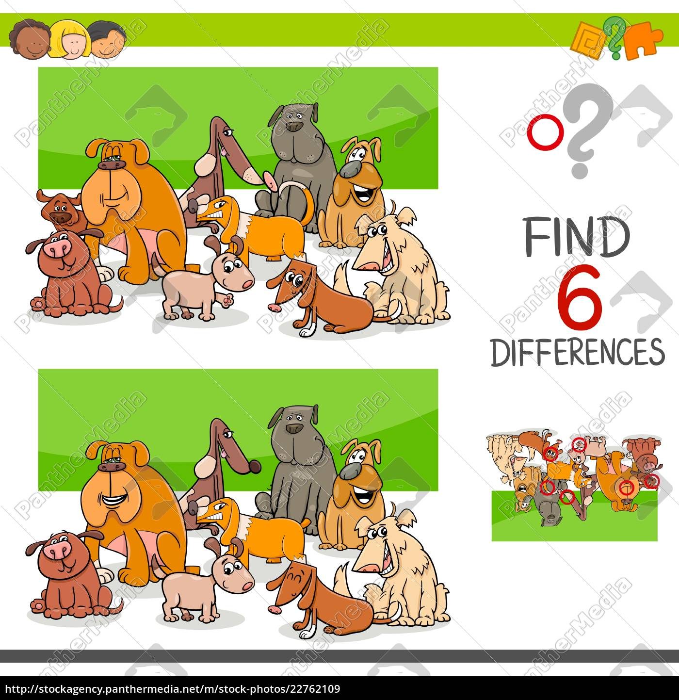 spot, the, differences, with, dogs, or - 22762109