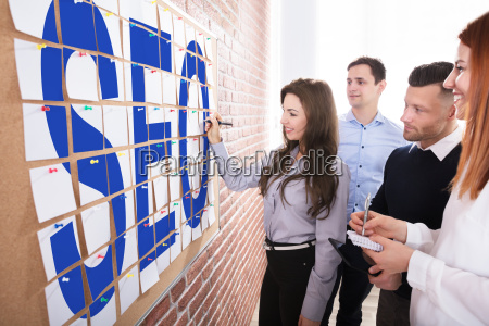 business people planning seo concept