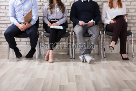 applicants waiting for job interview