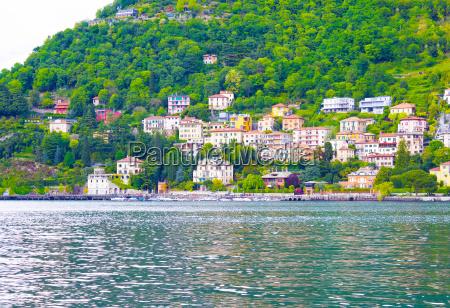 the view of como lake bellagio