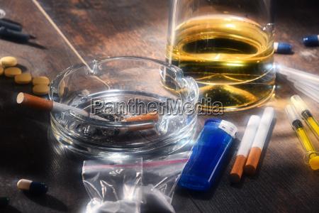 addictive substances including alcohol cigarettes and