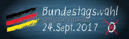 bundestag election on 24 september 2017
