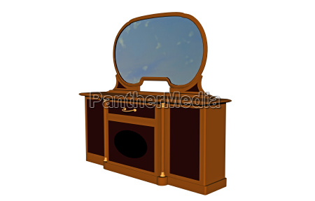 dressing table with large mirror released