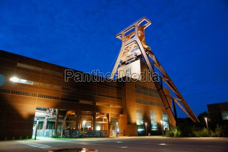 colliery at night