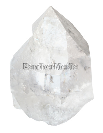 crystal of rock crystal isolated
