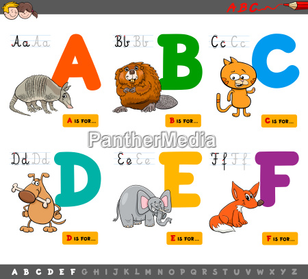educational, cartoon, alphabet, letters, for, learning - 22792314