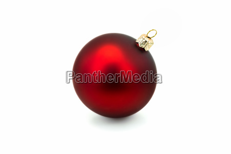 red christmas ball isolated