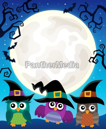 halloween image with owls theme 4