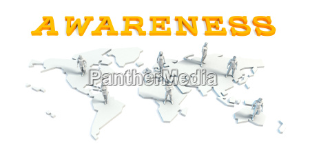 awareness concept with business team