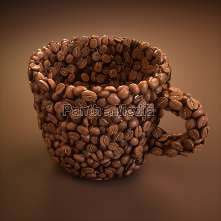 coffee cup shape clipping path