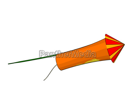 firework rocket isolated