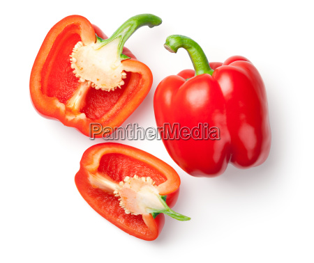 red peppers isolated on white background