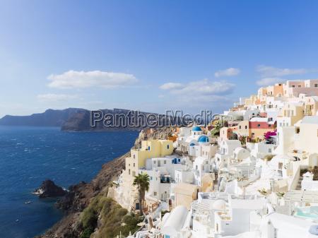 landscape santorini island fira greece