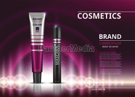 mascara and eye cream for dark