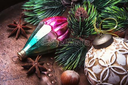 christmas retro decoration