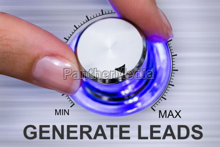 persons hand turning generate leads