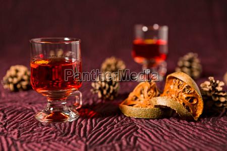alcoholic punch drink dried orange fruit