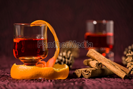 closeup of alcoholic punch drink with