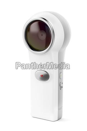 360 camera on white