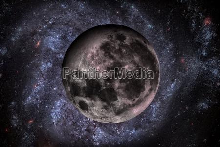 solar system earths moon the