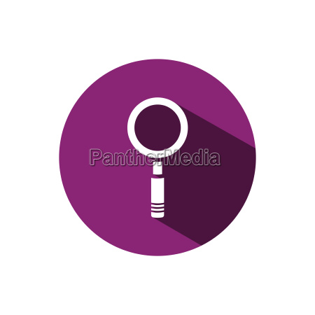 magnifying glass icon on a purple