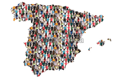 spain map people people people group