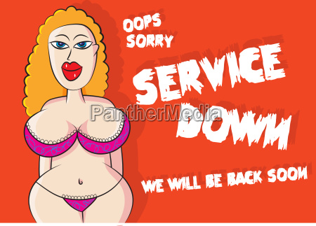 funny sexy lingerie model service down