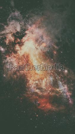universe scene with nebulae stars and