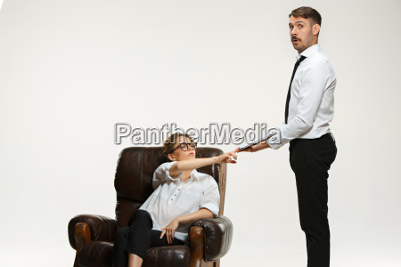 the young man and beautiful woman