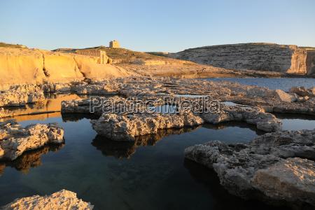 maltese coastline on sunny day