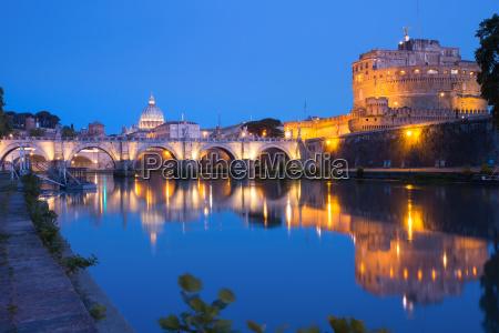 saint angel castle and bridge rome