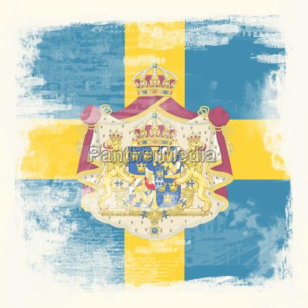 grunge flag sweden