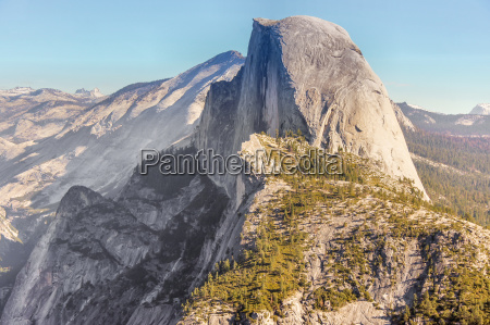 half dome views from pohono trail
