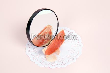grapefruit mirror