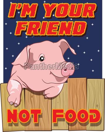 cute pig im your friend