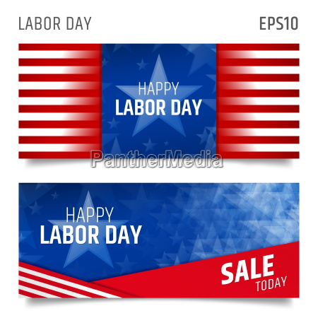 labor day horizontal banners
