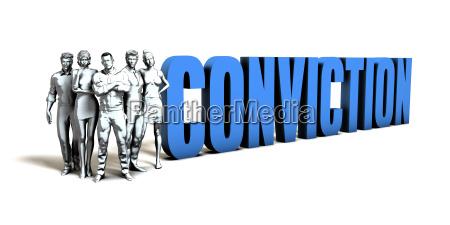 conviction business concept