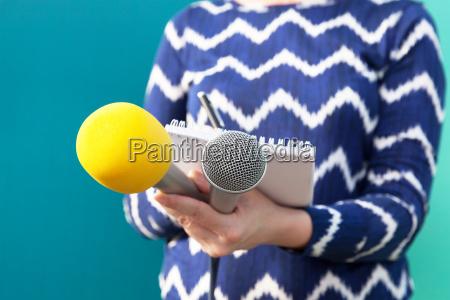 reporter press conference