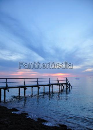 evening mood on the baltic sea