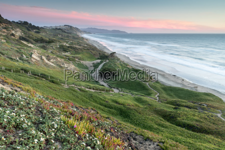 fort funston coastal sunset