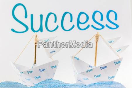 origami boat the recipe for success