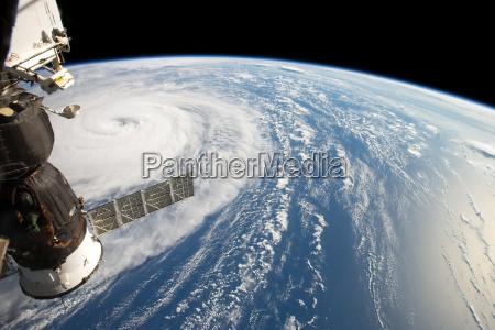 hurricane harvey fom space station elements