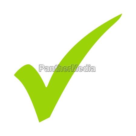 check mark symbol green