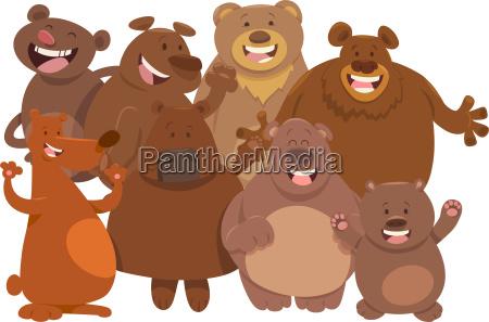 bears wild animal characters cartoon